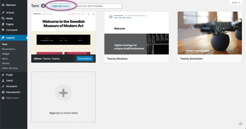 Aprire un business online - Temi WordPress