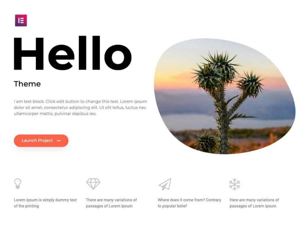 velocizzare sito wordpress Hello Theme