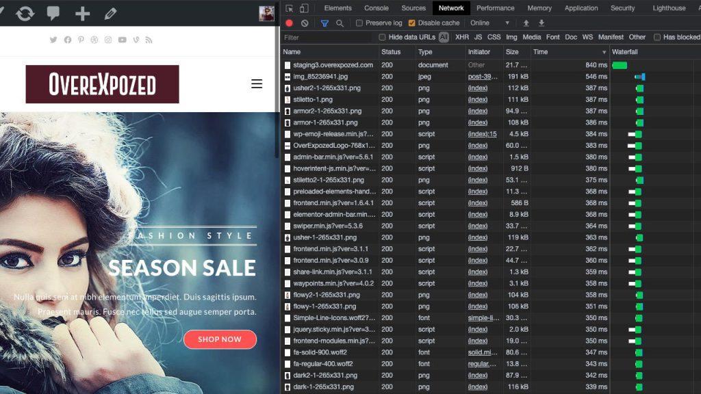 Velocizzare sito wordpress waterfall