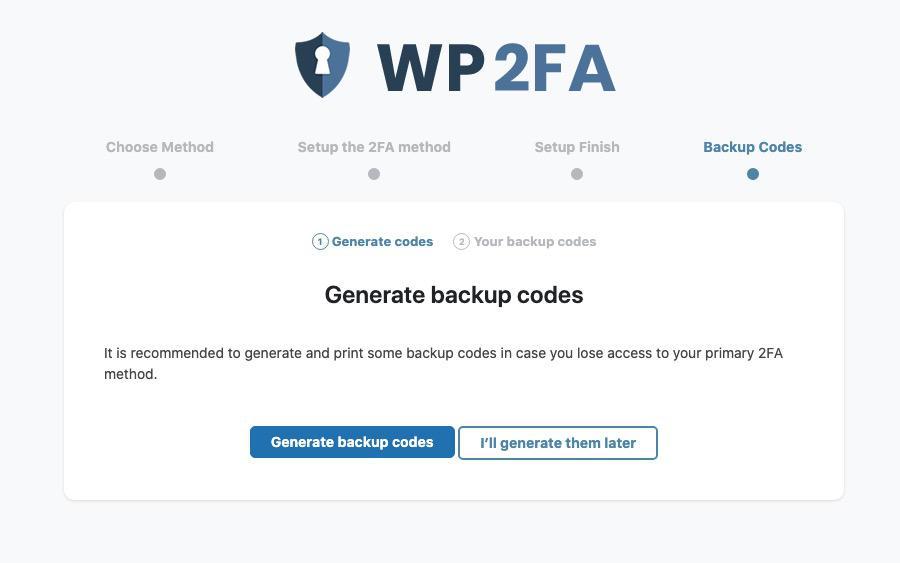autenticazione a due fattori codici backup