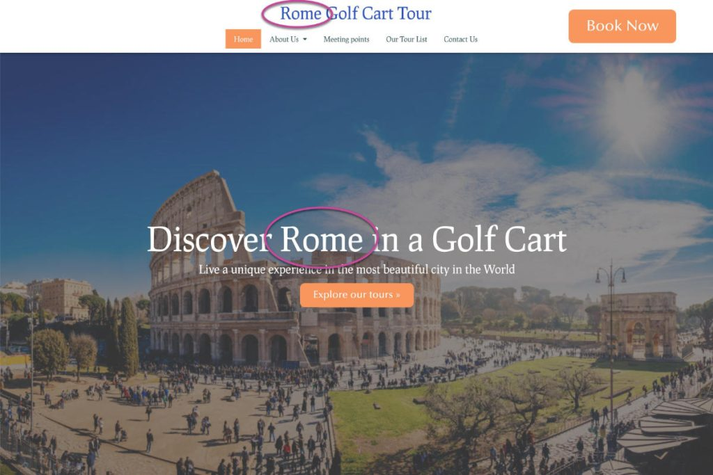 Local SEO Rome Golf Cart Tour