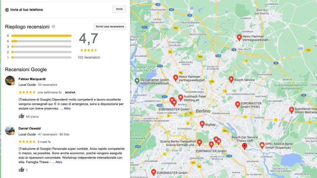 Local SEO le recensioni su Maps